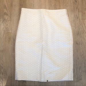 J. Crew Cream Pencil Skirt
